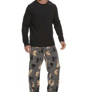 Men's 2pc Dogs pajama set sz XL